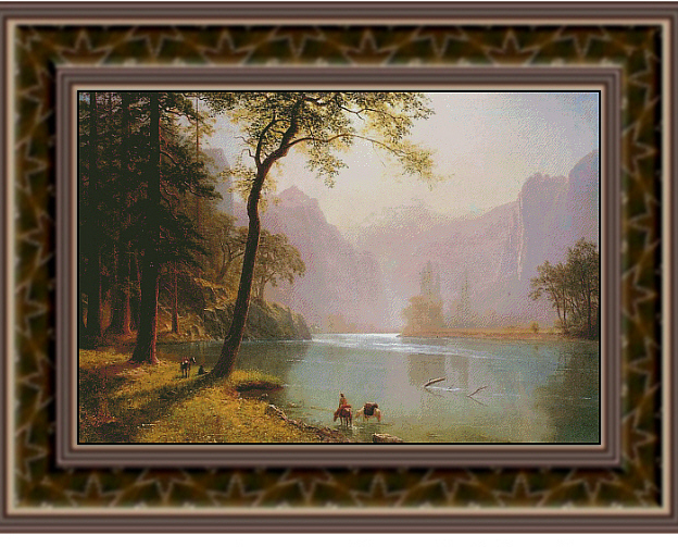 Kerns River Valley California, Fine Art Counted Cross Stitch