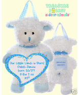 LambTreasure Pocket Keepsake a-door-nimal Blue ... - $18.00