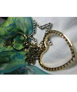 Coach Spinner Handbag FOB, Keyring, Clip On, With Swivel Clip, Heart, Star and F