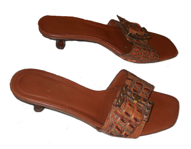 Donald-pliner-brown-leather-sandals-side