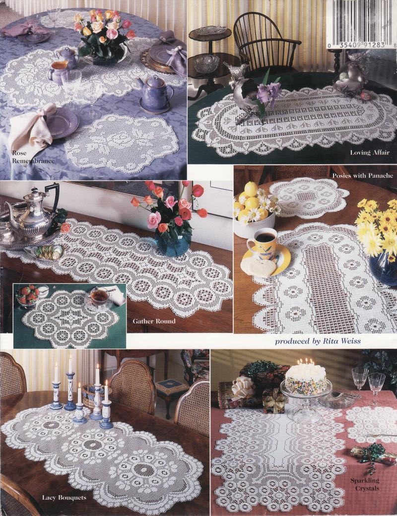 RUNNER beginners FREE CROCHETED runner PATTERNS  for crochet table patterns TABLE   PATTERN