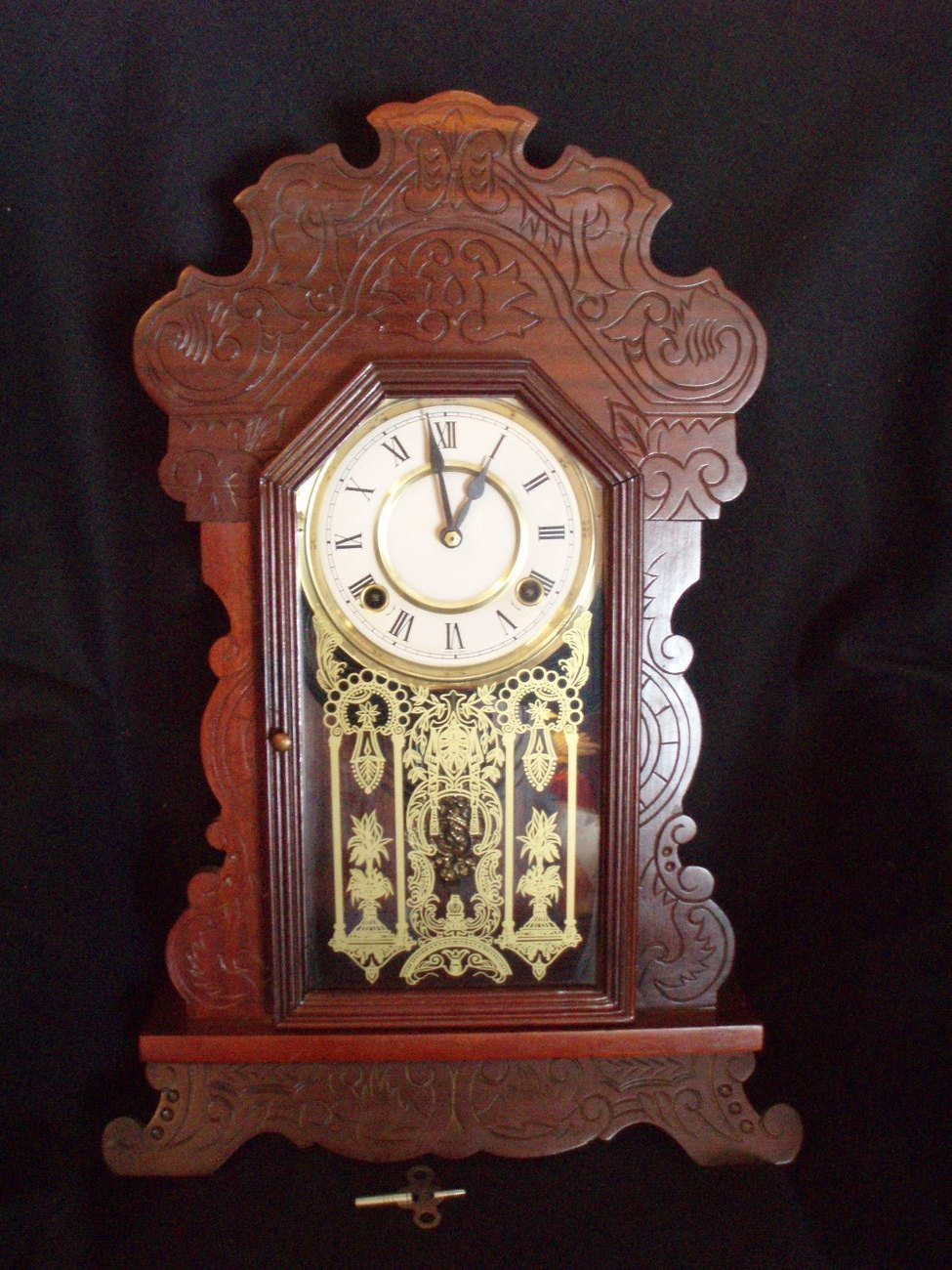 Eastlake Mantle Clock Antique Victorian with key