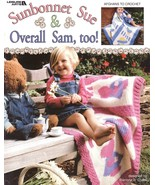 Sunbonnet Sue & Overall Sam Too Afghan Crochet Patterns Book Blankets Boy Girl   - $9.49