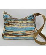 Mesa Blue Hobo Purse Brown Tan Handmade Chenill... - $90.00
