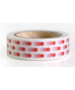 Japanese Washi Tape Roll- Red Dots - $3.00