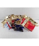 6 Jewelry Pouch Gift Bag Rectangle Synthetic Si... - $6.49