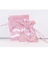 10 Jewelry Pouches Gift Bags 3X4 Light Pink Sat... - $7.99