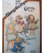 Simplicity 5257 Vintage Pattern Girls 2 Pinafor... - $7.95