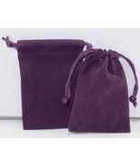 10 Jewelry Pouches Gift Bags 3 X 4 Purple Velou... - $7.99