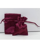 10 Jewelry Pouches Gift Bags 5 X 8 Wine Satin D... - $11.99