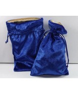 2 Jewelry Pouches Gift Bags 5 X 8 Gold Lined Ro... - $7.49