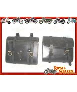 PAIR OF ROYAL ENFIELD SADDLE BAGS GENUINE BLACK... - $235.19