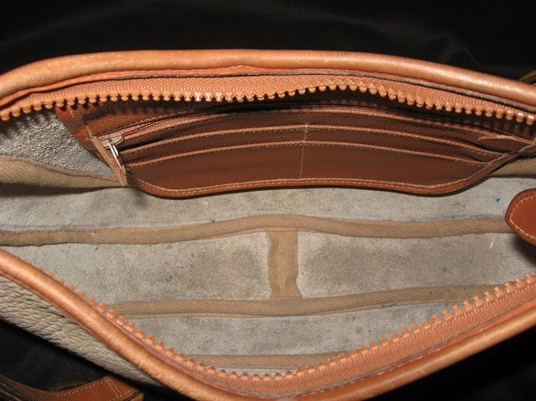 Dooney_and_bourke_leather_handbag_bag_purse_vintage_brown