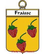 FRAISSE French Coat of Arms Print FRAISSE Famil... - $25.00