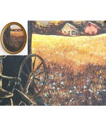 Amish Country Farm Barn Original Painting Wisco... - $54.95