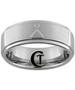 8mm Tungsten Carbide Satin Finsh Ring with a St... - $49.00