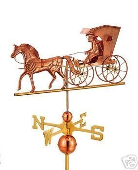 doctor horse & carriage COPPER WEATHERVANE WEATHER VANE