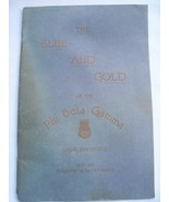 Blue & Gold Of The Phi Beta Gamma Legal Fratern... - $14.99