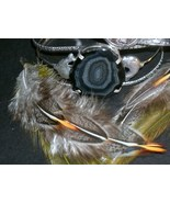 Natural Black Agate Druzy Cuff Bracelet 925 Ste... - $6.99