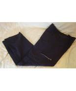 black casual pants rafaella 10 zip leg pocket c... - $4.00