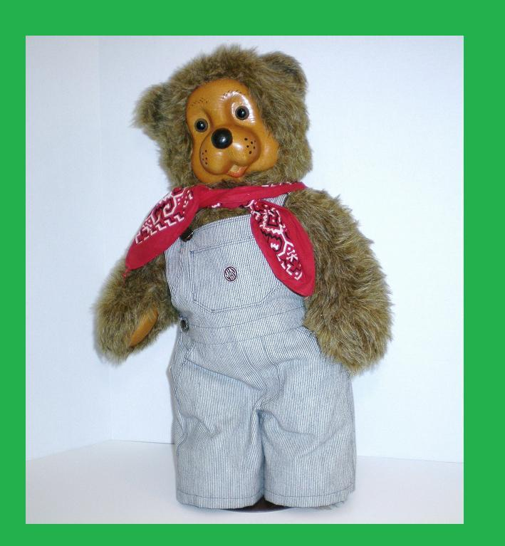Image 1 of Robert Raikes Woody Bear Train Engineer 22 inch 1987 Ltd Ed  25