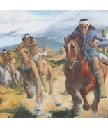 Superstition Downs - Southwest Indian Painting ... - $150.07