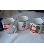 Lot Of 7 Christmas Porcelain Bowls Cups Camping... - $19.99