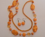 Buy Matching Sets - Orange Fashion Matching Set includes Necklace and Earrings