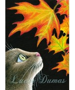 ACEO art print Cat 442, painting by Lucie Dumas - $4.99
