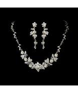 New Swarovski Crystal Pearl Floral Wedding Jewe... - $83.99