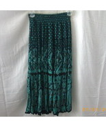 Black and green Carole Little swirly skirt - $10.00