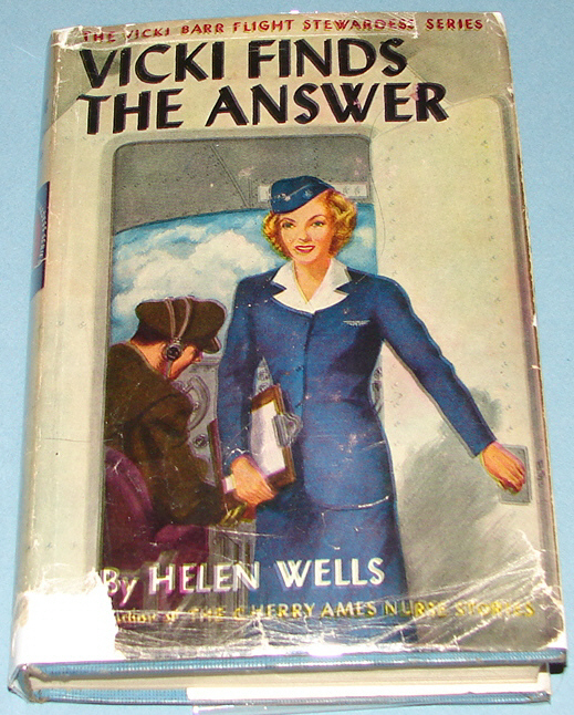 Vicki Barr #2 Vicki Finds the Answer 1947 Early DJ