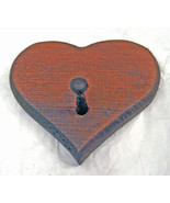 SOLID PINE HAND CARVED PINE WOOD WOODEN HEART K... - $7.99