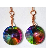 Artisan Rivoli Vitrail Earrings Rainbow Crystal 