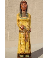 Wooden Cigar Store Indian Maiden Squaw by Frank... - $827.07