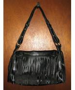 Liz Claiborne Black Fringe Handbag Shoulder Pur... - $29.99