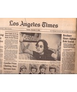 Los Angeles Times John Lennon Death December 9,... - $19.99