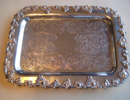 Vintage Sliverplate Tray Wm. A. Rogers New York  - $16.26