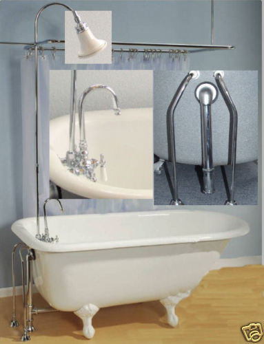 Add On Shower Clawfoot Tub Faucet Kit Less Tub Other
