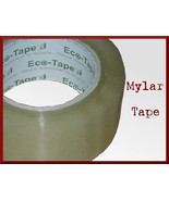 2.5 Mil 3 Clear Rolls Mylar Carton Tape 2 in x 110 yd