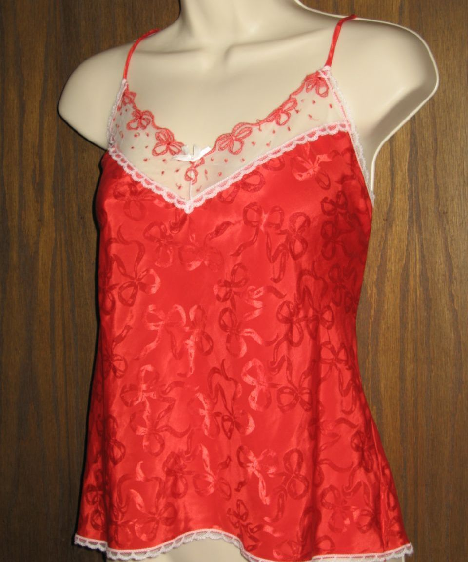 Cine Star Red Bow Chemise Cami M
