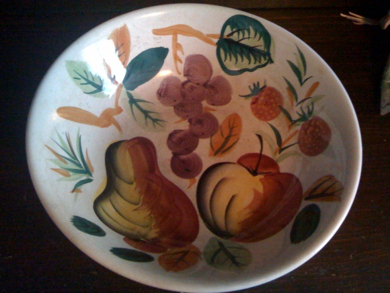 Hand painted Fruit Bowl - Vintage