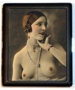 Flapper Pinup Pin Up 20's Gal Cigarette ID Case  - $9.29