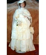 Flora The 1900'S Bride Porcelain Collector Doll - $250.00