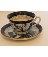 Made In Occupied Japan, Cup And Saucer, Demi Tasse, Blue Willow Variant - $10.99