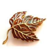 Colorful Autumn Leaf Crystal Brooch Pin Broach ... - $4.99