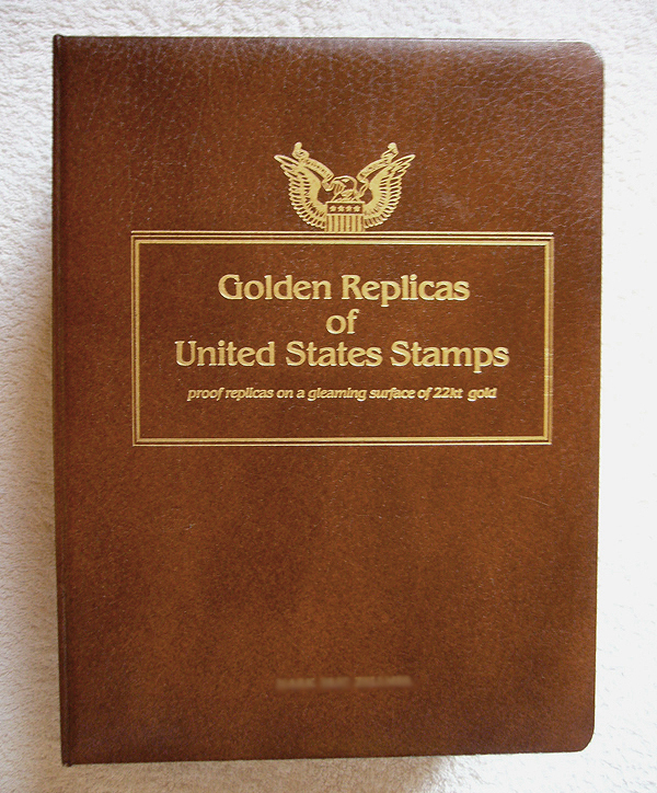 Golden Replicas of United States Stamps Album