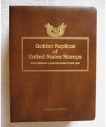 Golden Replicas of United States Stamps Album - $42.00