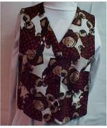 Vest, Flannel Bear Print Child's Size 8-10 - $20.00