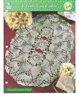 Shaded Green Oval Doily~A Touch of Color Croche... - £2.05 GBP
